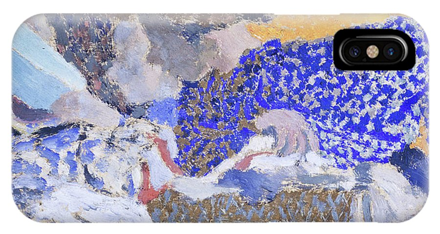 Edouard Vuillard IPhone X Case featuring the painting Two Seamstresses In The Workroom - Digital Remastered Edition by Edouard Vuillard