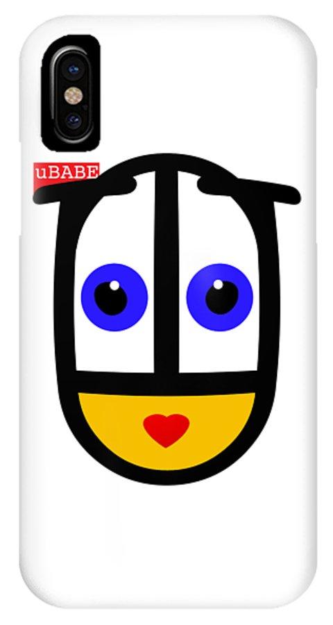 Ubabe Face IPhone X Case featuring the digital art uBABE Logo by Ubabe Style