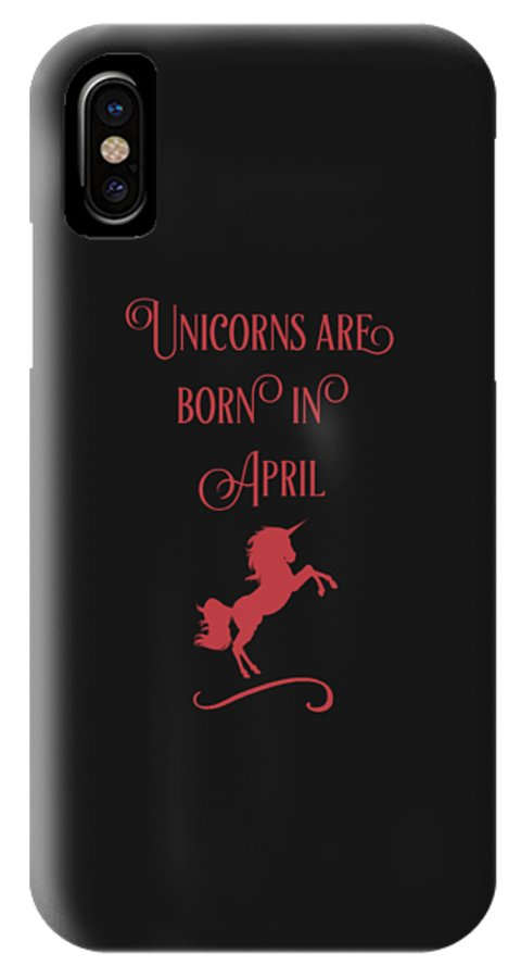 Unicorn-mug IPhone X Case featuring the digital art Unicorns Are Born In April by Sourcing Graphic Design