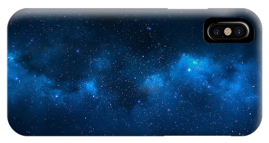 Big IPhone X Case featuring the photograph Universe Filled With Stars, Nebula And by Pixelparticle