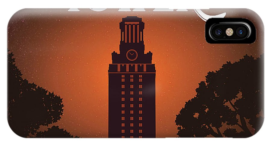 University Of Texas Tower IPhone X Case featuring the photograph University Of Texas Tower by Austin Welcome Center