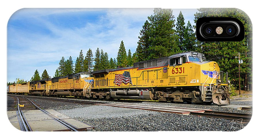 Freight Trains IPhone X Case featuring the photograph Up6331 by Jim Thompson