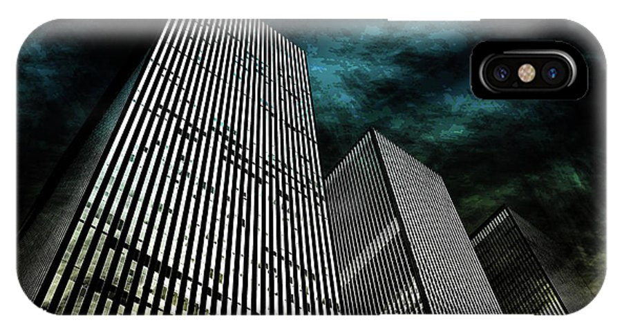 American IPhone X Case featuring the digital art Urban Grunge Collection Set - 13 by Az Jackson