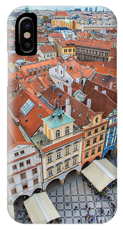 Crowd IPhone X Case featuring the photograph View Over The Rooftops Of The Old Town by Badahos