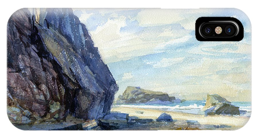 Beach IPhone X Case featuring the painting Washed Ashore by Steve Henderson