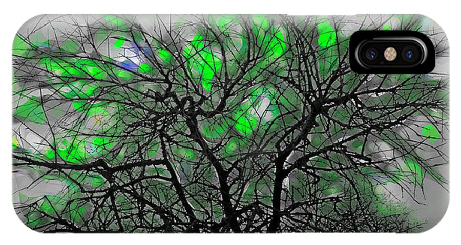 Tree IPhone X Case featuring the digital art Wasteway Willow 12 by Bruce Whitaker