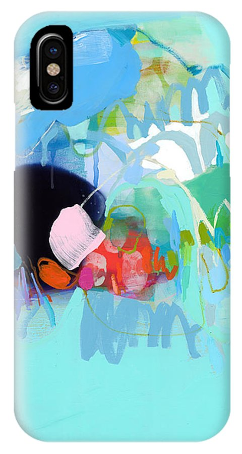 Abstract IPhone X Case featuring the painting West Coast Wanderlust by Claire Desjardins