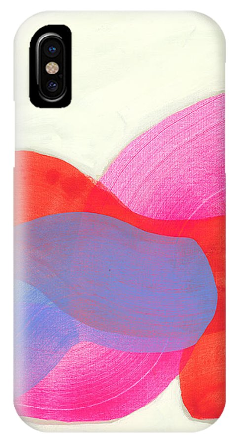Abstract IPhone X Case featuring the painting What To Say? by Claire Desjardins