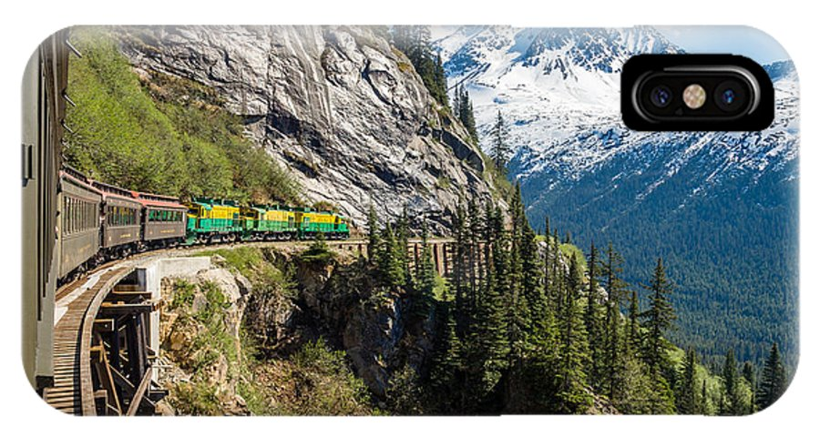 Mountains IPhone X Case featuring the photograph White Pass Train Alaska by Gary Rolband