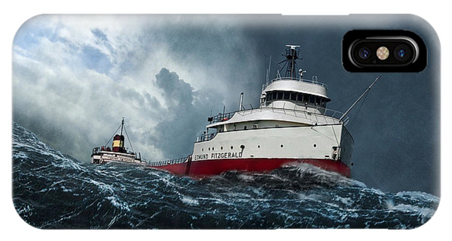 Edmund Fitzgerald IPhone X Case featuring the digital art Witch Of November by Peter Chilelli