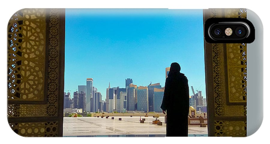 Woman At Mosque Doha Iphone X Case