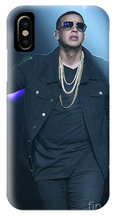 Singer Daddy_yankee Is Shown Performing During A Live Concert Appearance. IPhone X Case featuring the photograph Yankee_daddy by Concert Photos