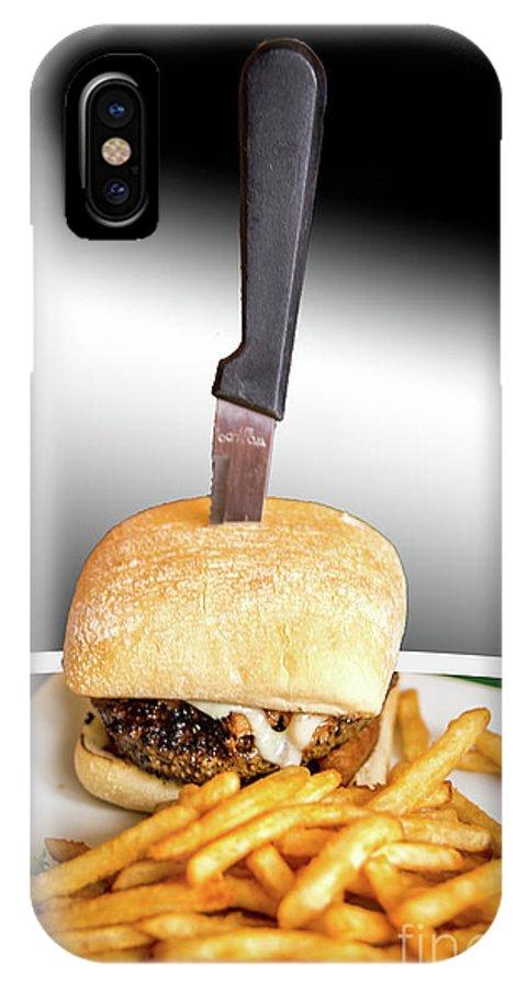 Landscape IPhone X Case featuring the photograph Yopper Burger by Deborah Klubertanz