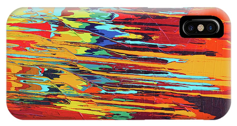 Fusionart IPhone X Case featuring the painting Zap by Ralph White