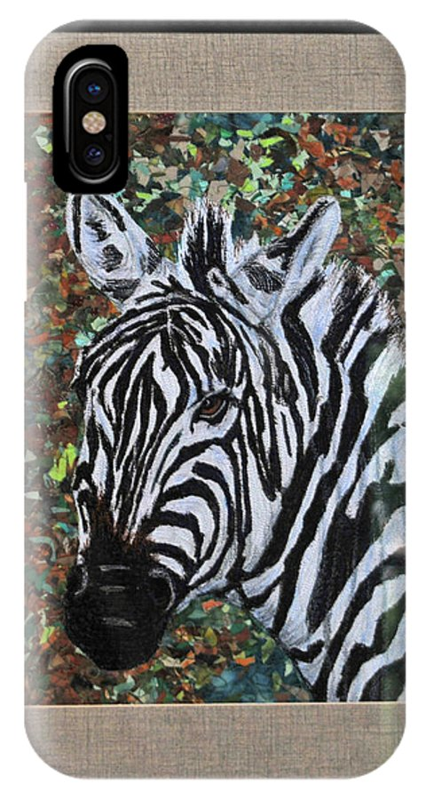 Zebra IPhone X Case featuring the tapestry - textile Zebra by Dolores Fegan