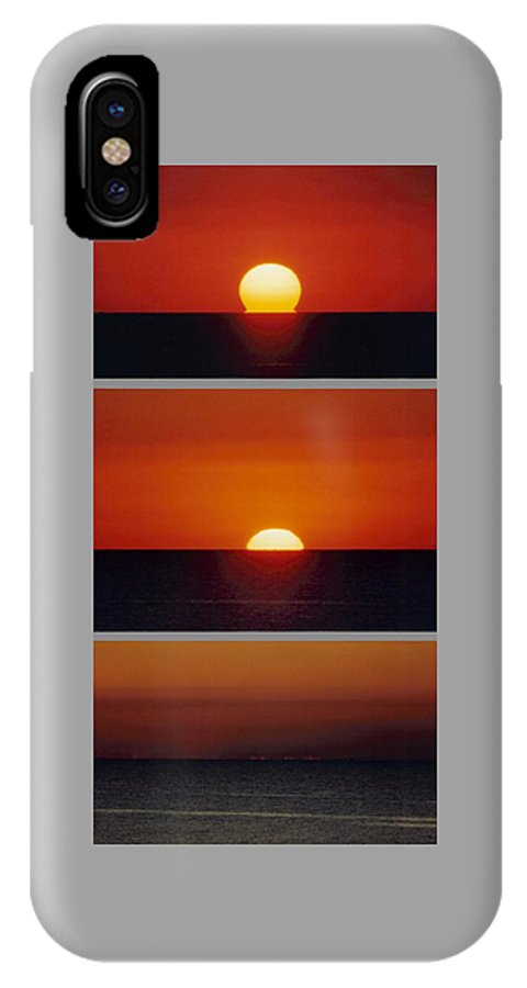 Sun IPhone X Case featuring the photograph 091108-1  Sunset by Mike Davis