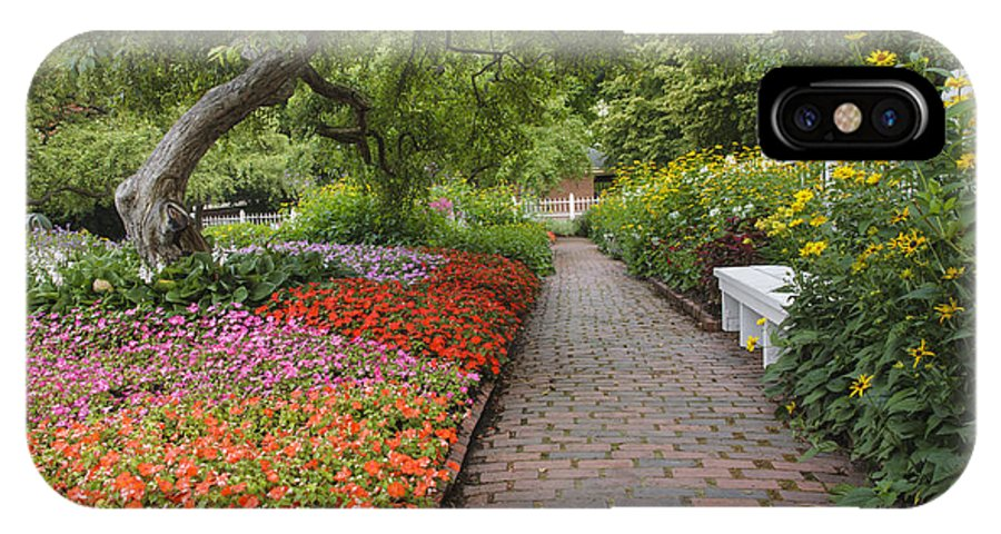 Annual Flower IPhone X Case featuring the photograph Prescott Park - Portsmouth New Hampshire USA by Erin Paul Donovan