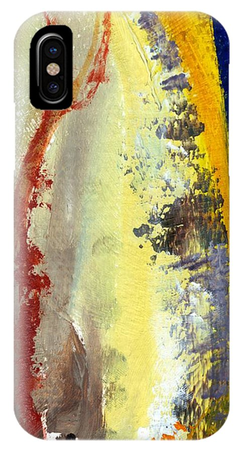 Rustic IPhone X Case featuring the painting Abstract Color Study ll by Michelle Calkins
