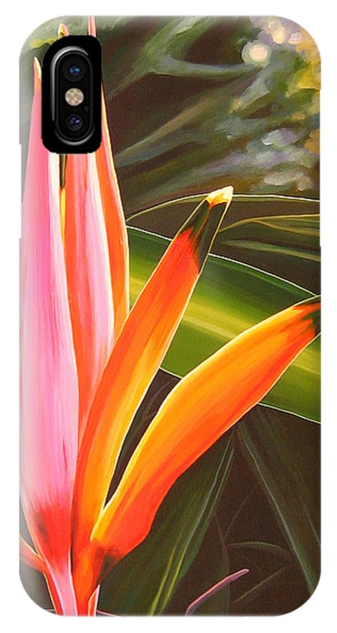Botanical IPhone X Case featuring the painting Another World by Hunter Jay