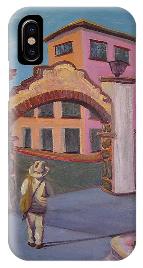 Mexico IPhone X Case featuring the painting Arco de Jiutepec by Lilibeth Andre