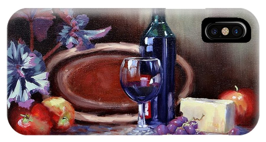 Oil Painting IPhone X Case featuring the painting Artful Tastings by Laura Lee Zanghetti