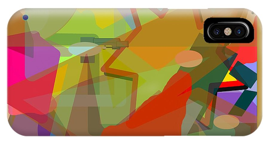 Abstract IPhone X Case featuring the digital art Assassin by Pharris Art