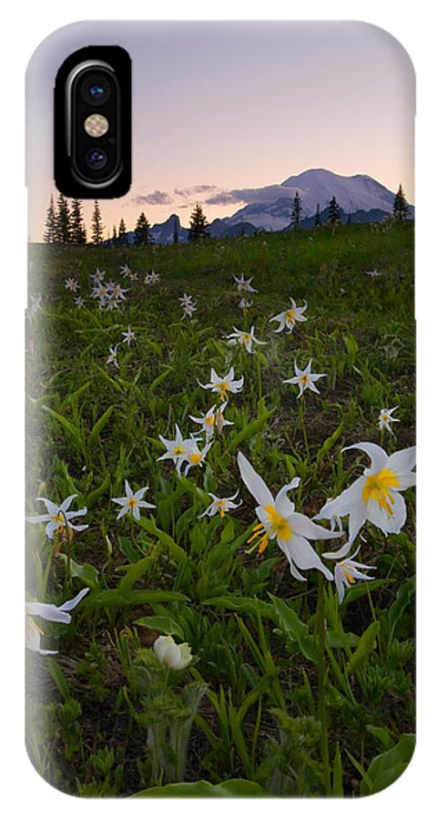 Lillies IPhone X Case featuring the photograph Avalanche of Lillies by Mike Dawson