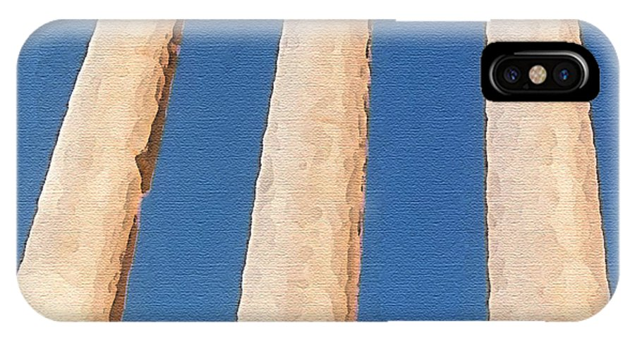 Art IPhone X Case featuring the photograph Baalbek by Piero Lucia