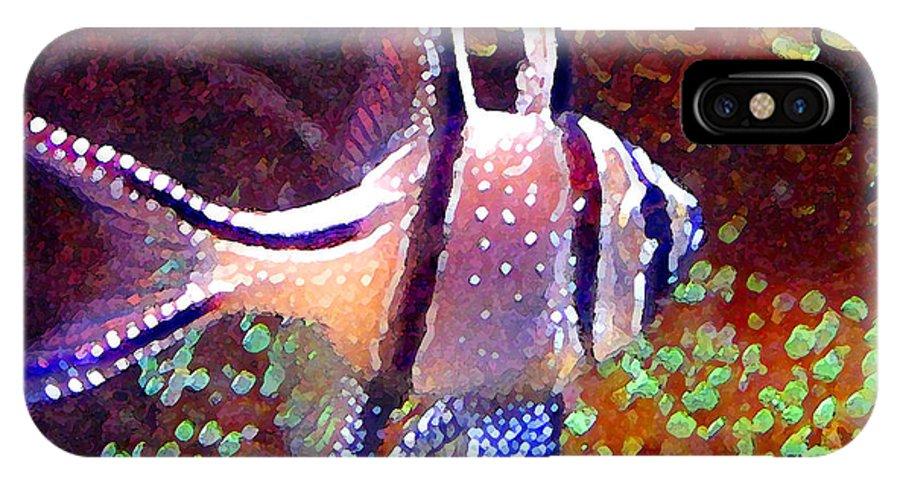Fish IPhone X Case featuring the painting Banggai Cardinalfish by Amy Vangsgard