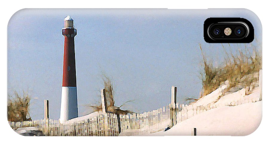 Barnegat IPhone X Case featuring the photograph Barnegat Lighthouse by Steve Karol