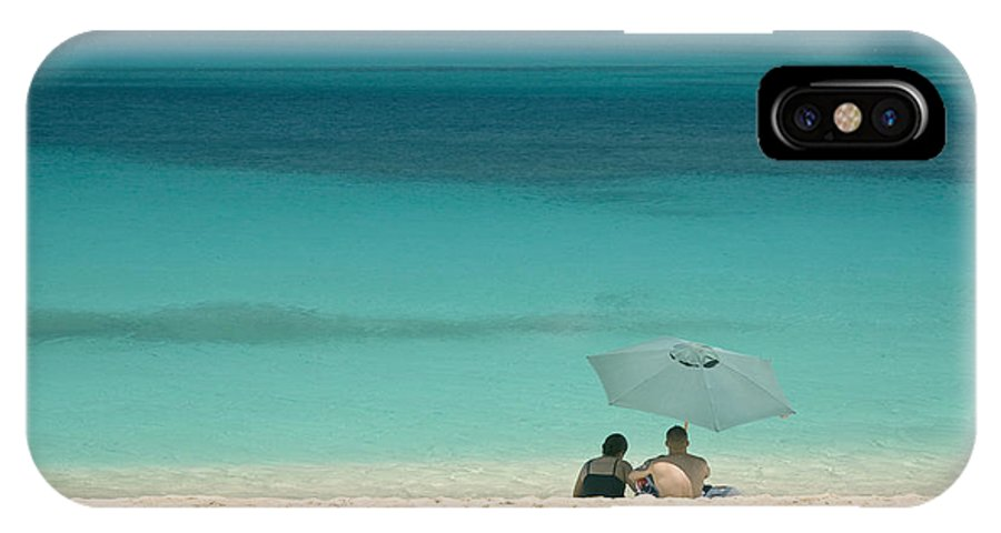 Landscape IPhone X Case featuring the photograph Beach Goers North Shore Oahu by Charlie Osborn