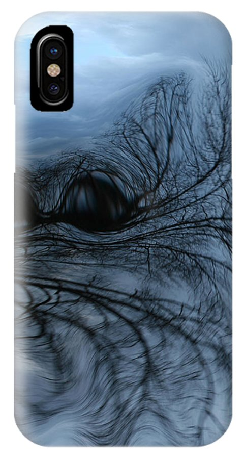 Tree Art IPhone X Case featuring the photograph Black and blue by Linda Sannuti