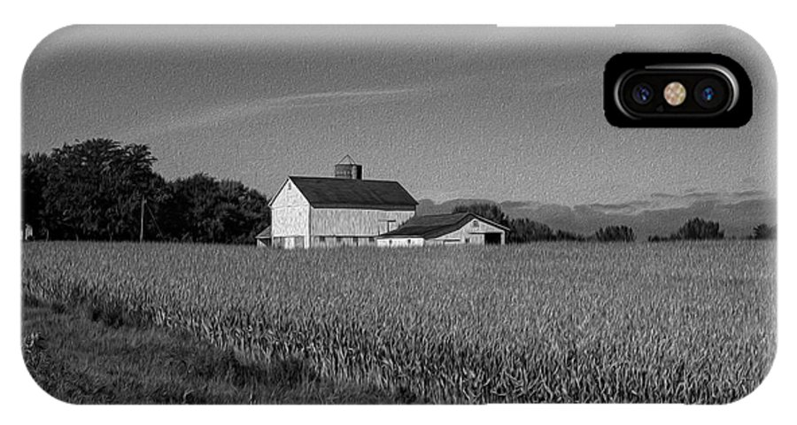 Black And White IPhone X Case featuring the photograph Black and White Farmstand by David Bearden