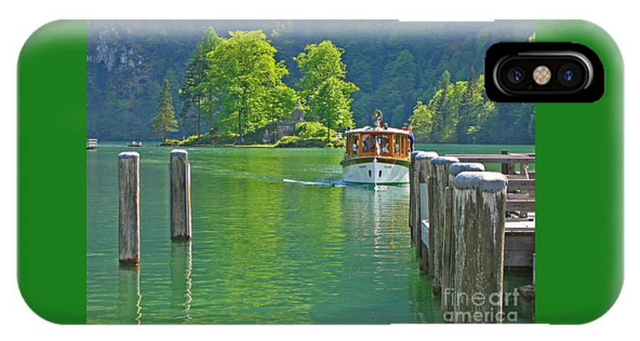 Boat IPhone X Case featuring the photograph Boating Through Beauty by Ann Horn