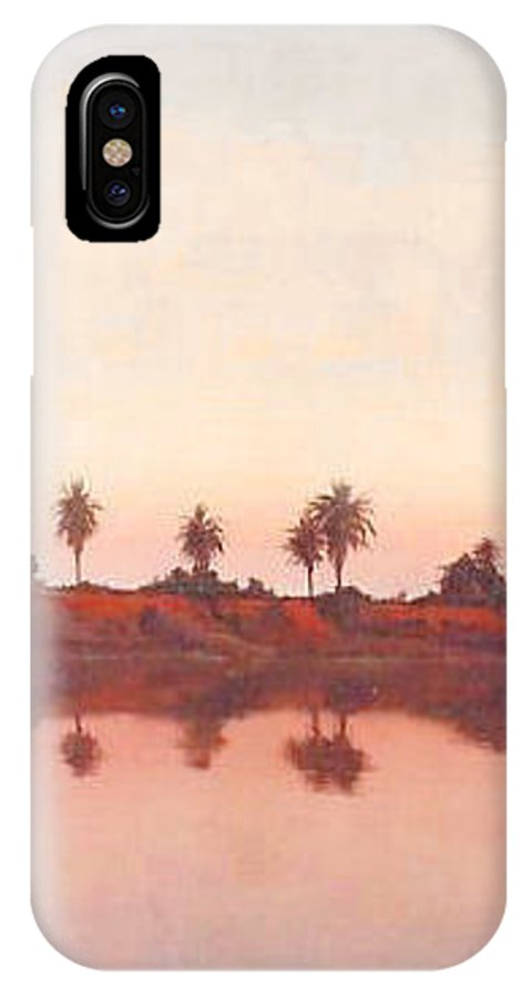 Sunset IPhone X Case featuring the painting Bolsa Chica by Philip Fleischer