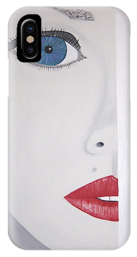 Bright IPhone X Case featuring the painting Brea by Dean Stephens