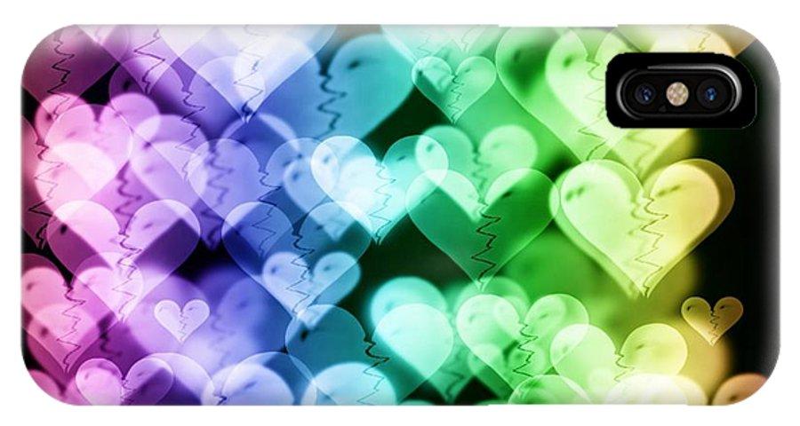 Heart IPhone X Case featuring the digital art Broken - Hearted by Rhonda Barrett