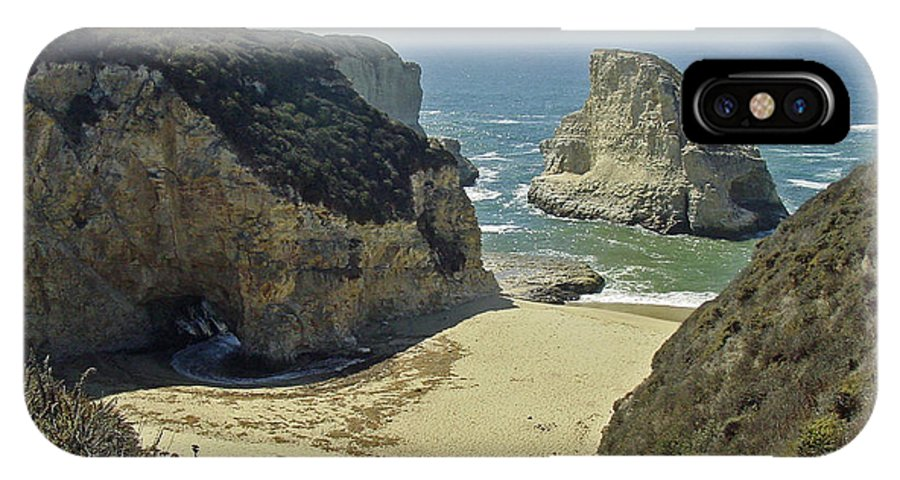 California IPhone X Case featuring the photograph California Cliffs and Caves by Suzanne Gaff