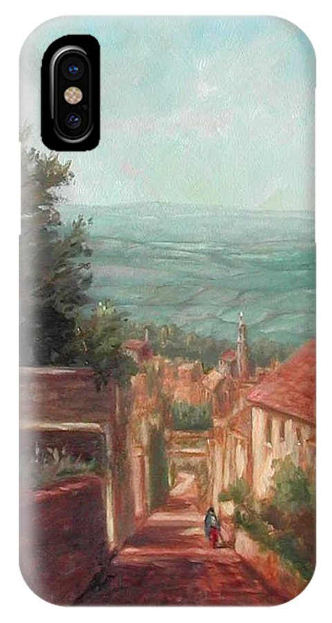 IPhone X Case featuring the painting Cambrian afternoon by Ruth Stromswold