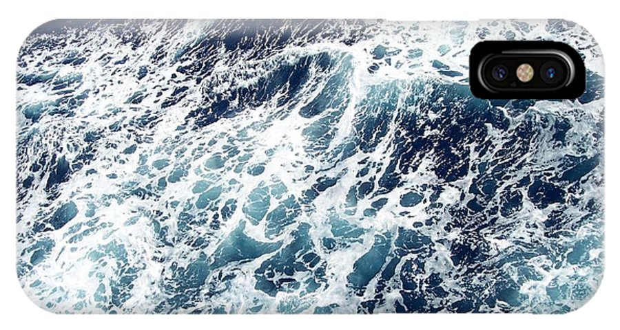 Waves IPhone X Case featuring the photograph Caribbean Waves by Michelle Miron-Rebbe
