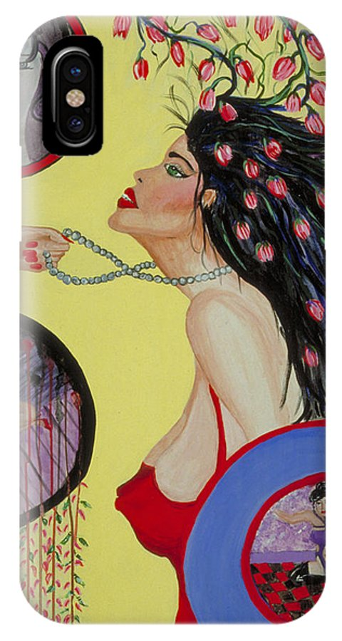 Self Portrait IPhone X Case featuring the painting Coming of Age by J Andrel