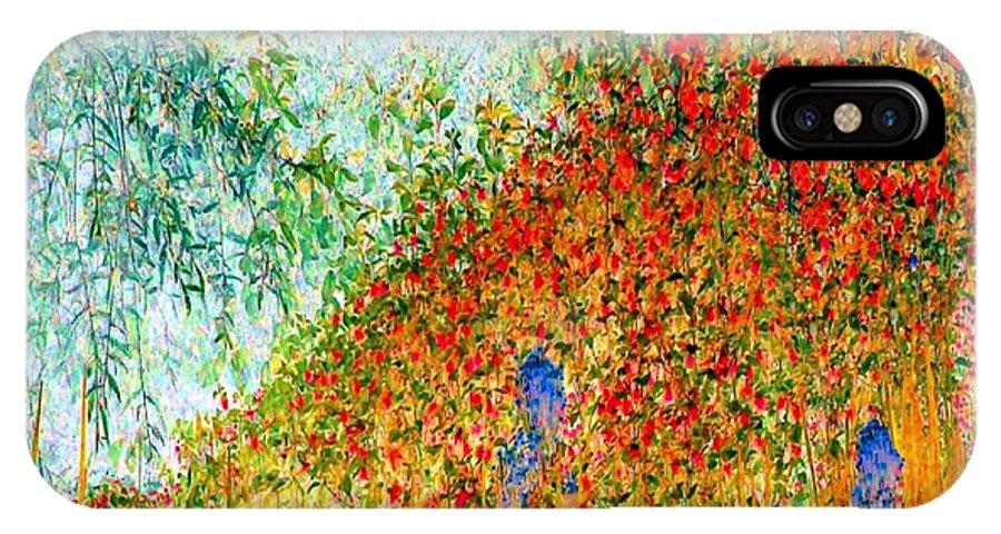 Landscape IPhone X Case featuring the photograph Crimson Autumn by Robert Burns