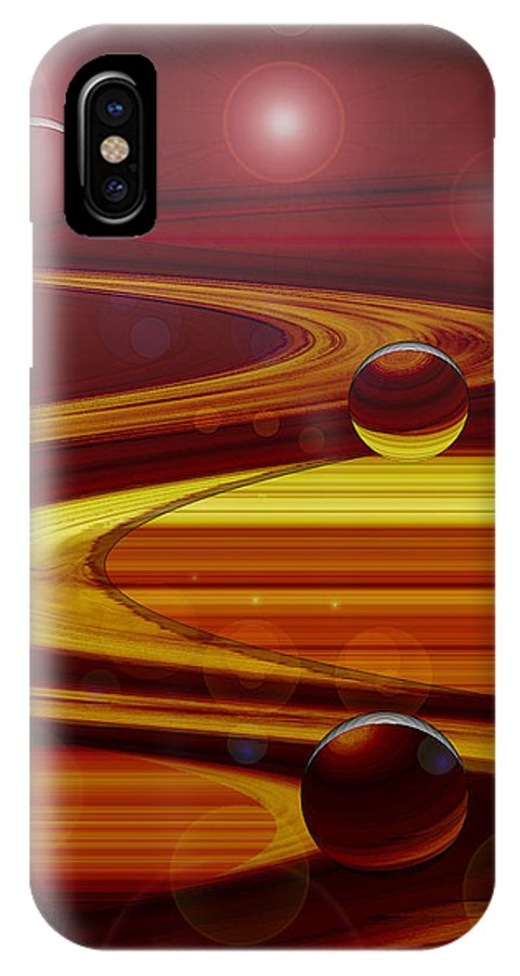 Deep Space IPhone X Case featuring the digital art Deep Space by Linda Sannuti