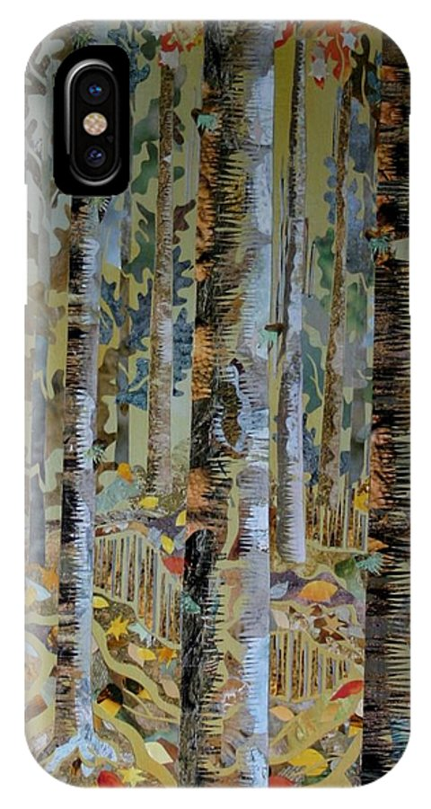Poplars IPhone X Case featuring the mixed media Deep Woods by Bob Craig