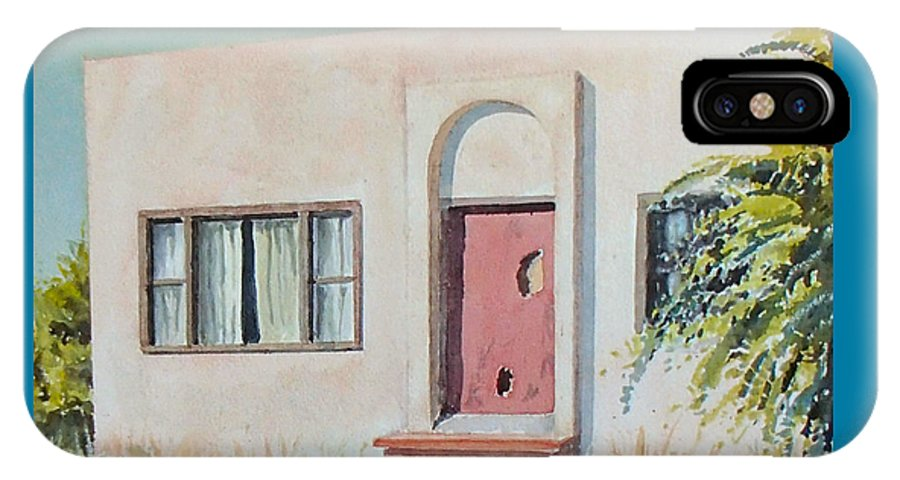 House IPhone X Case featuring the painting Once was a Home by Philip Fleischer