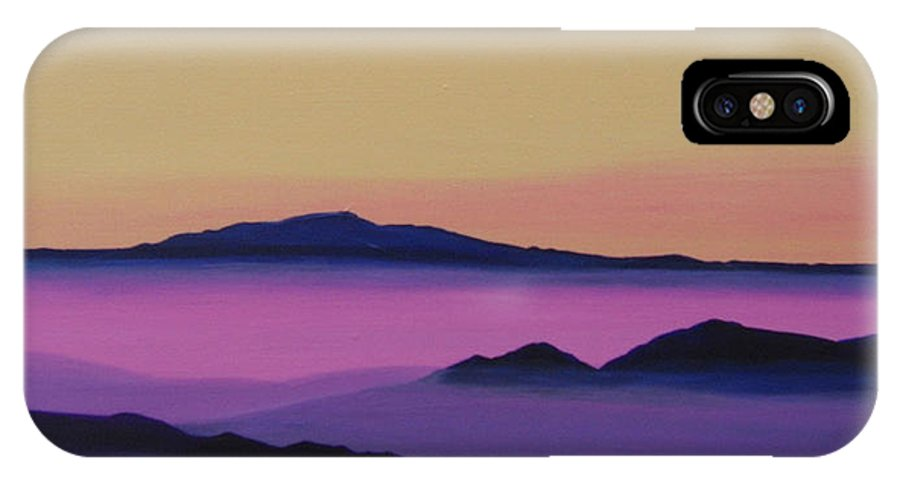 Mountains IPhone X Case featuring the painting Early Morning by Hunter Jay