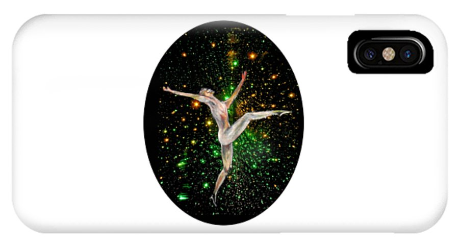 Dance IPhone X Case featuring the painting Elation , Dance in the night by Tom Conway