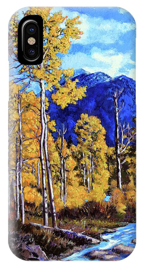 Colorado IPhone X Case featuring the painting Final Trip to Colorado by John Lautermilch