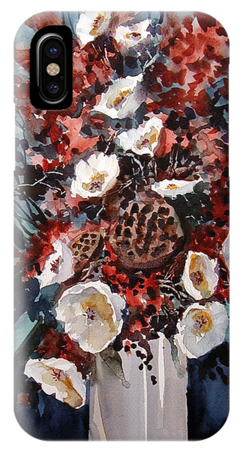 Floral IPhone X Case featuring the painting Floral by Charles Rowland