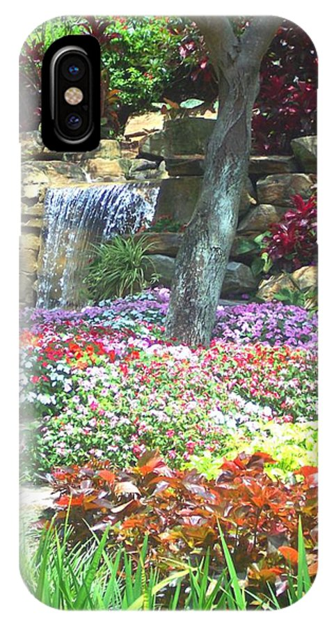 Garden IPhone X Case featuring the photograph Floral Garden by Pharris Art